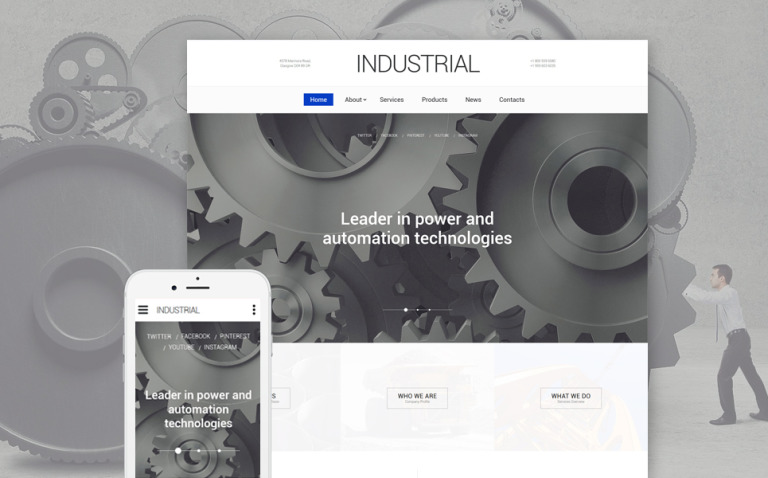 Industrial Technology Website Template New Screenshots BIG