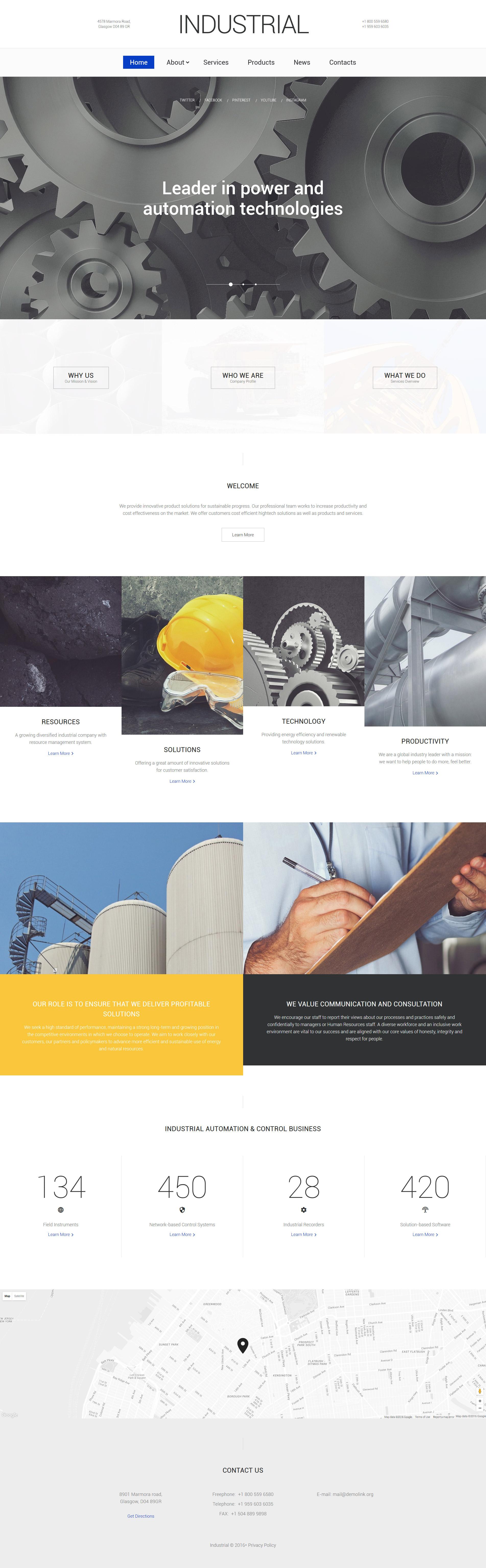 Industrial Technology Website Template - screenshot