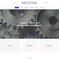 Clean simple website templates templatemonster industrial technology bootstrap website pronofoot35fo Choice Image