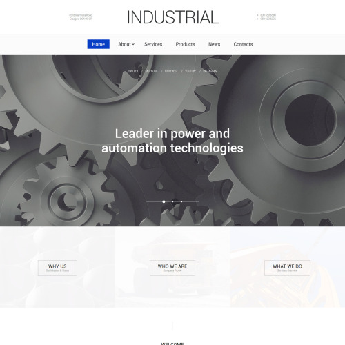 Industrial - Website Template based on Bootstrap