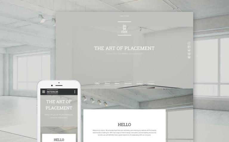 Interior & Furniture Responsive Website Template New Screenshots BIG