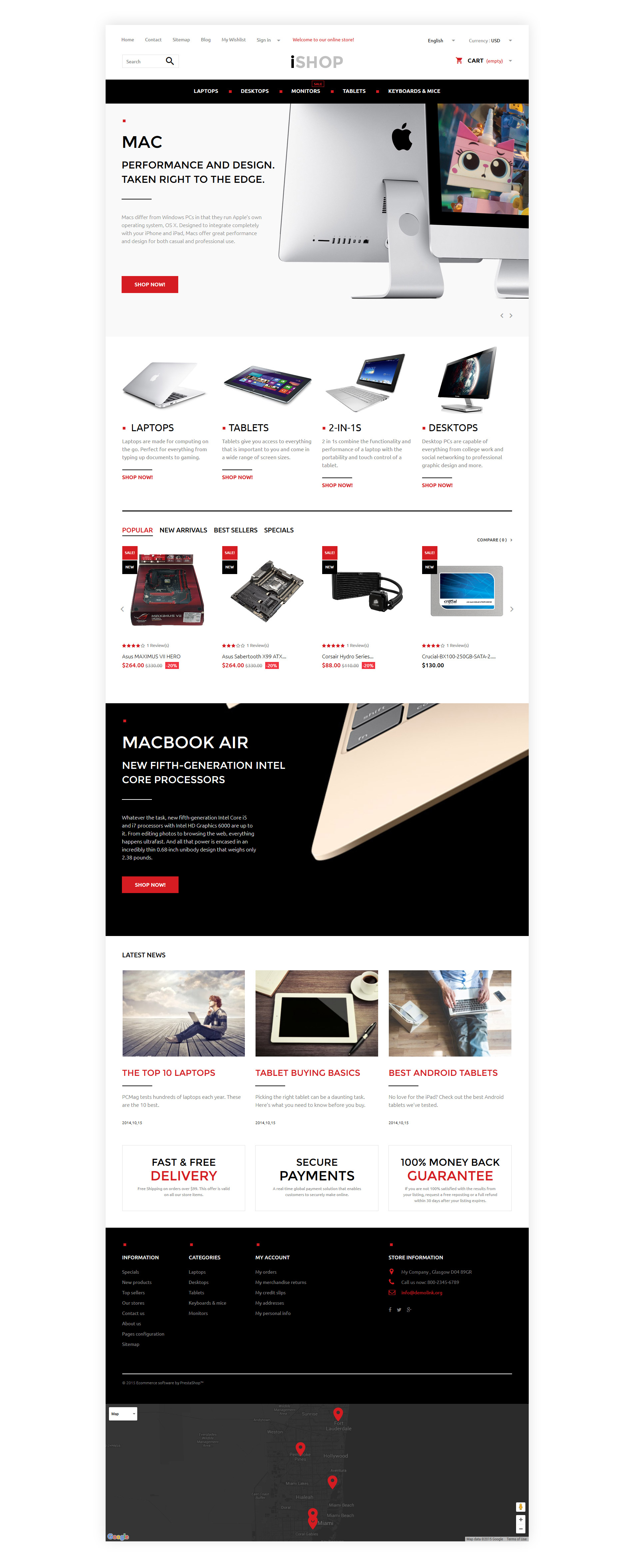 iShop - магазин электроники №57939 - скриншот