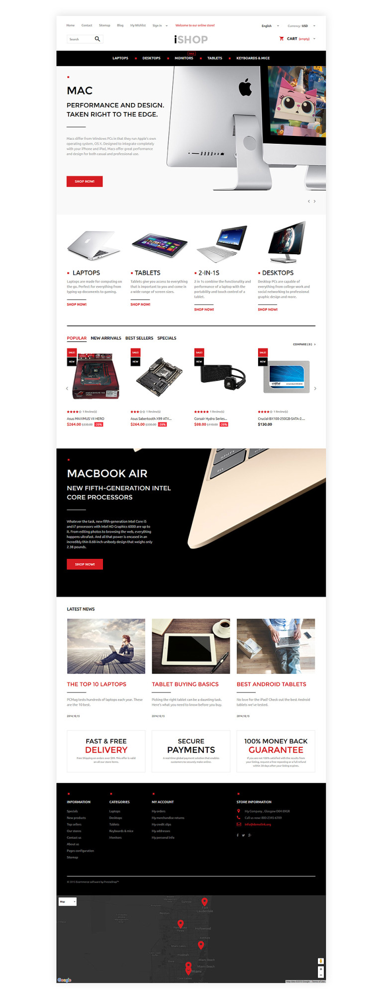 iShop PrestaShop Theme New Screenshots BIG