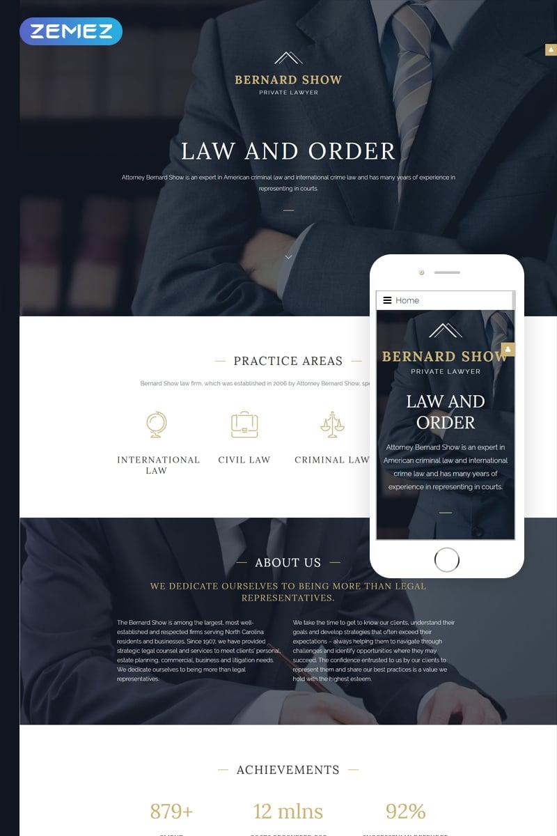 """Joomla Vorlage namens """"Lawyer"""" #57937"""