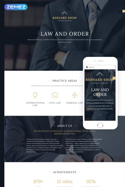 Lawyer Joomla Template #57937