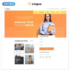 Lingvo Language School Multipage Simple Html5 Bootstrap
