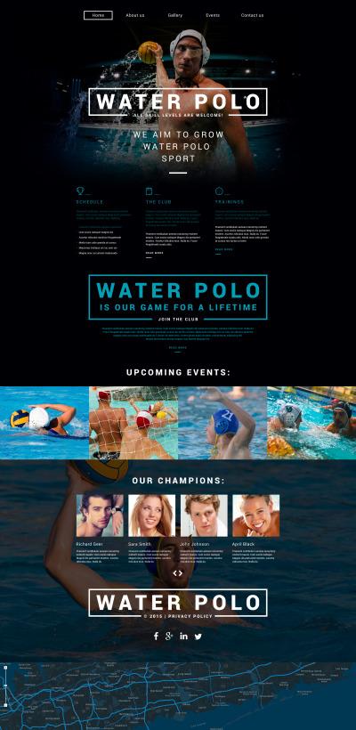 Modèle Web adaptatif  pour site de polo