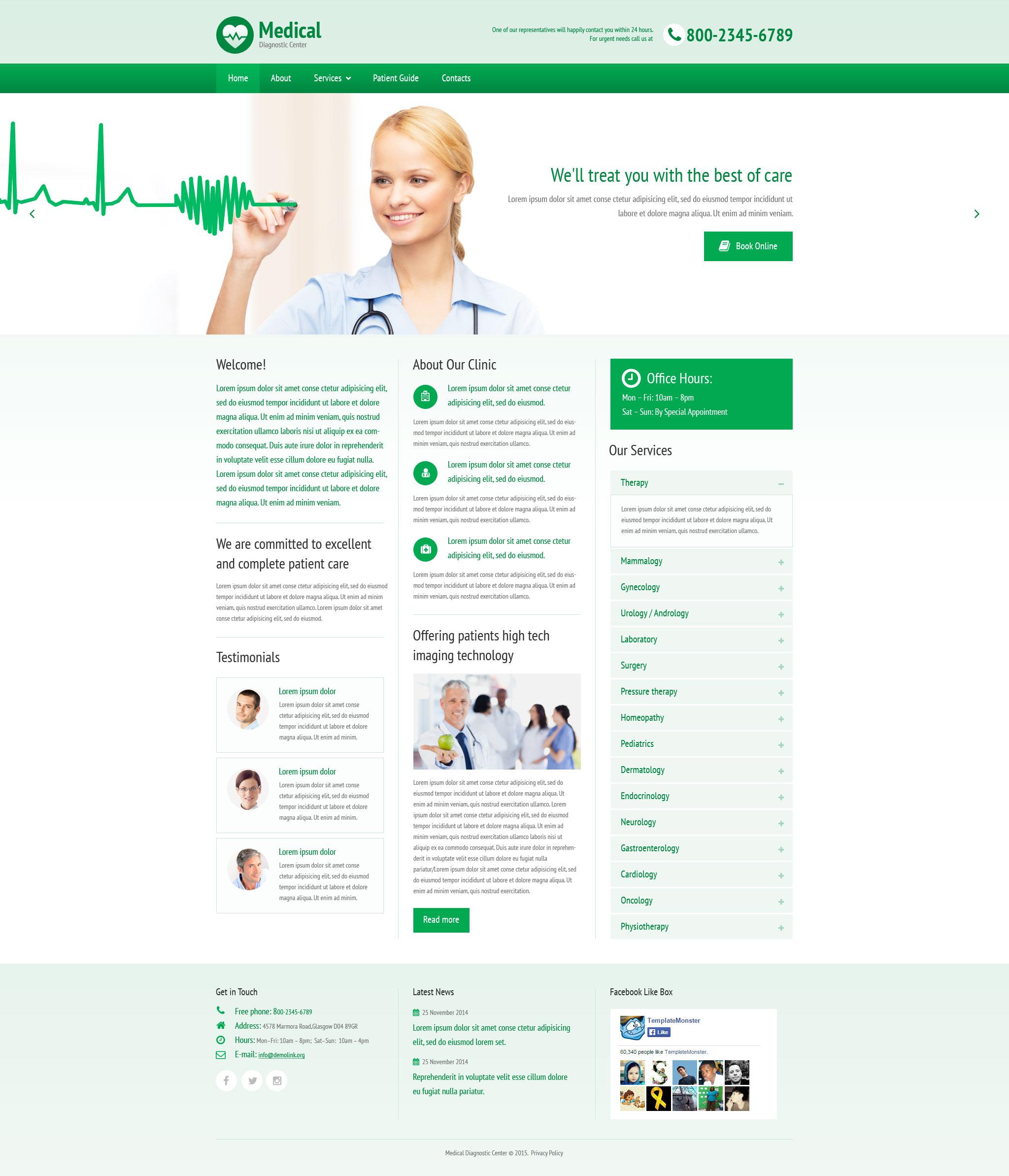 Modèle Web adaptatif pour site médical #57991