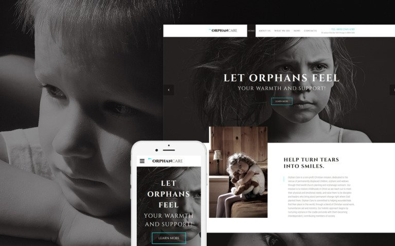 OrphanCare - Child Charity & Fundraising Website Template New Screenshots BIG
