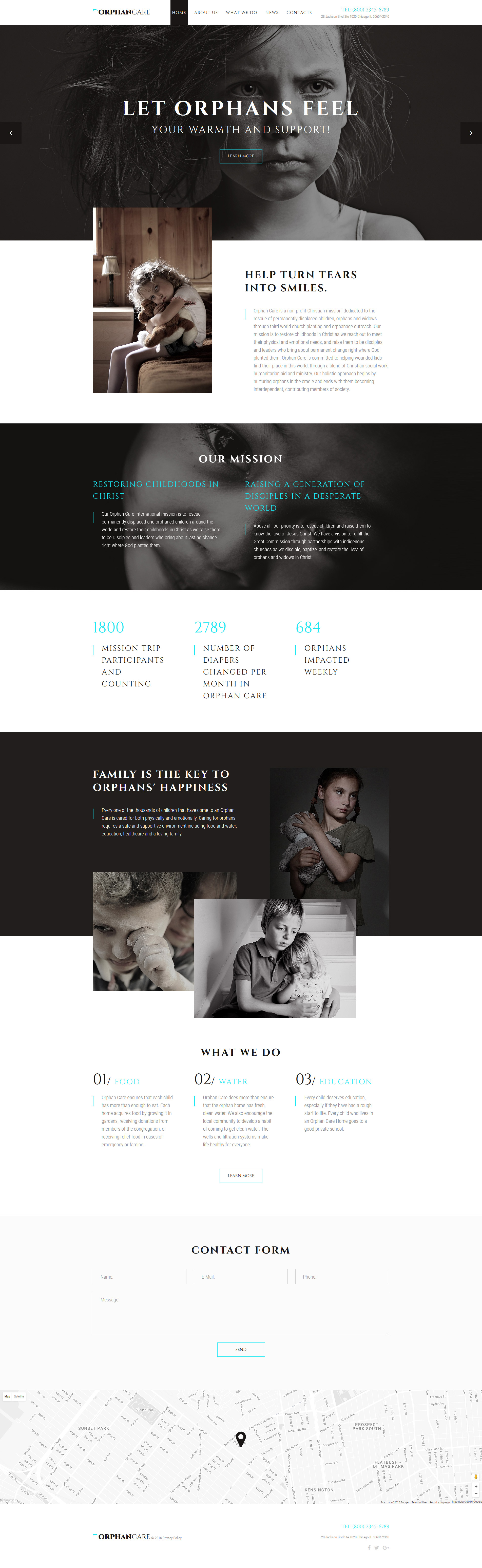 OrphanCare - Child Charity & Fundraising Website Template