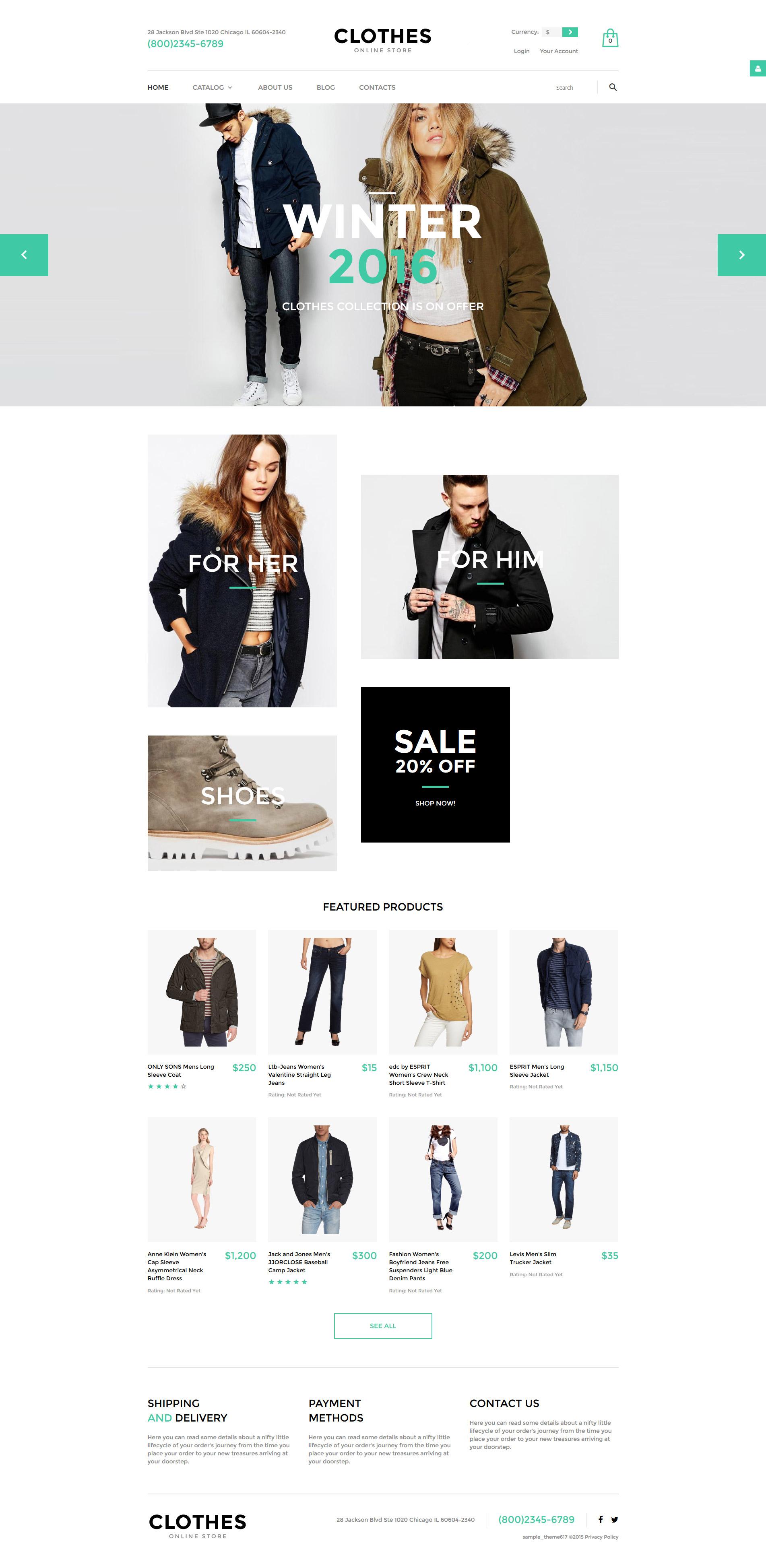 "Plantilla VirtueMart ""Clothes"" #57974"