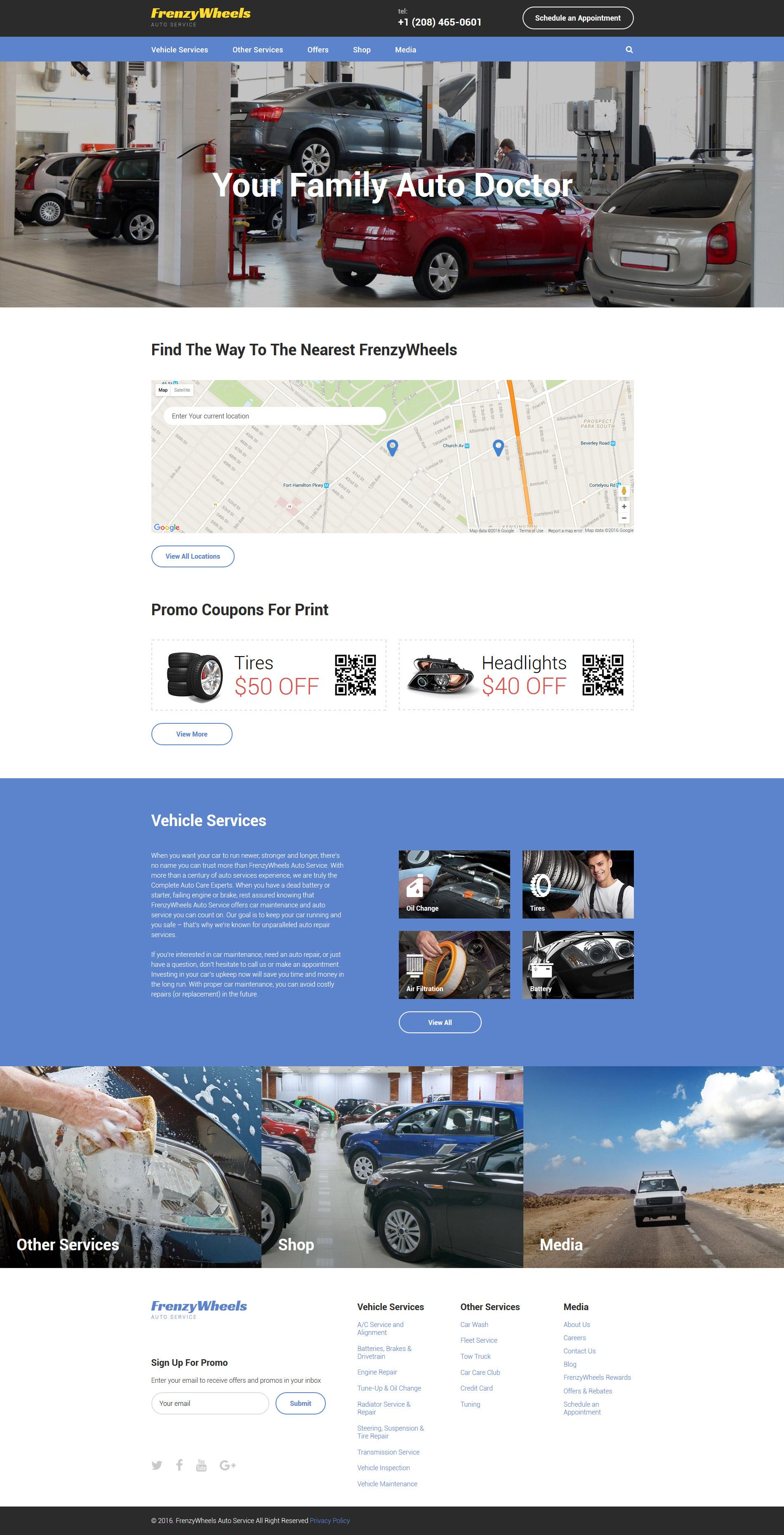 Plantilla Web #57989 para Sitio de Repuestos de coches
