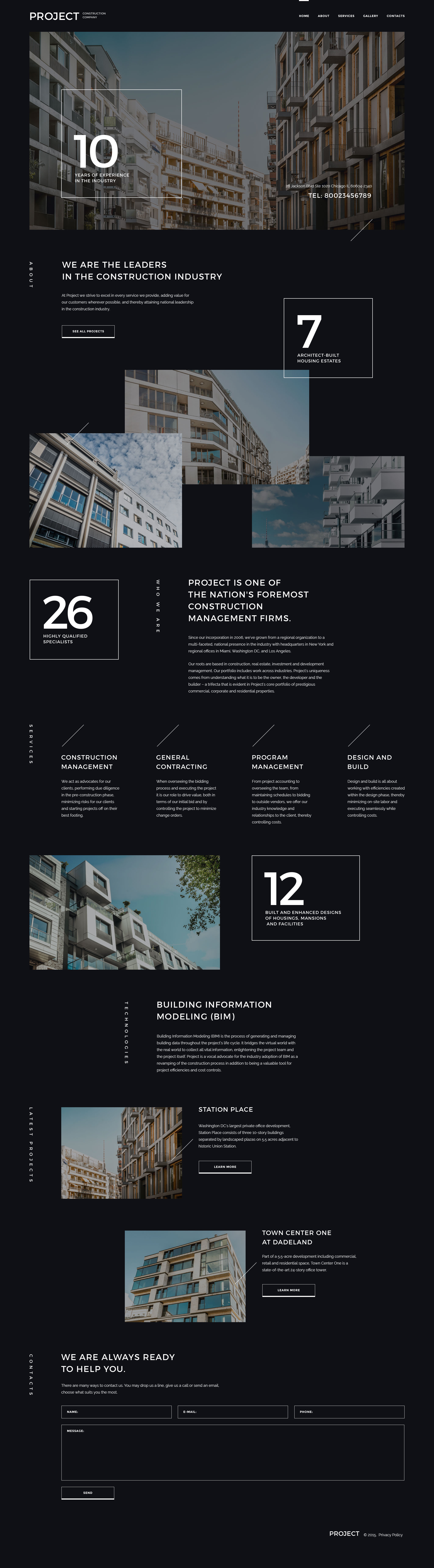 """""""Project Construction Company"""" Responsive Website template №57947"""