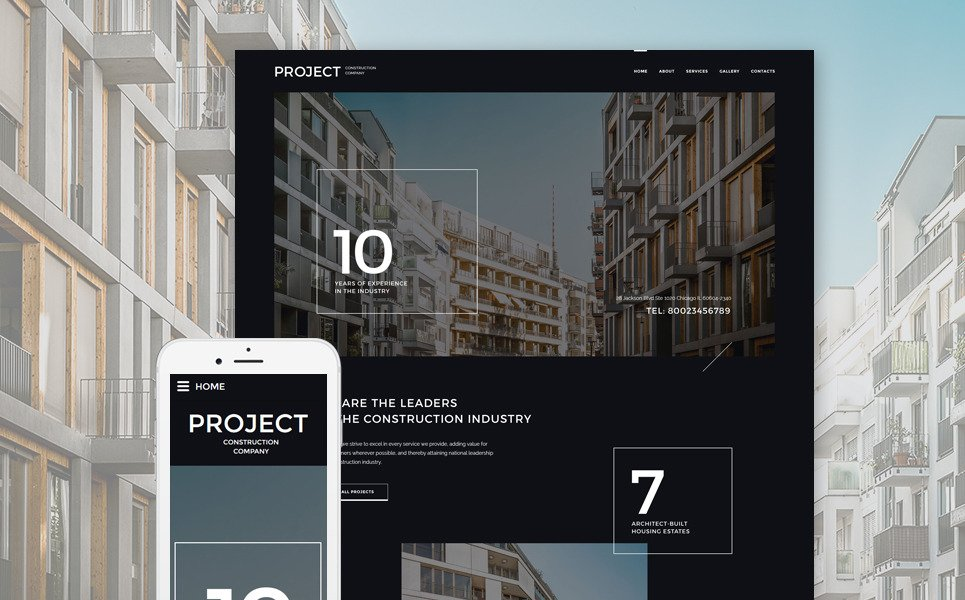 Project Construction Company Website Template New Screenshots BIG