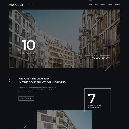 Project Construction Company - Responsive Website Template