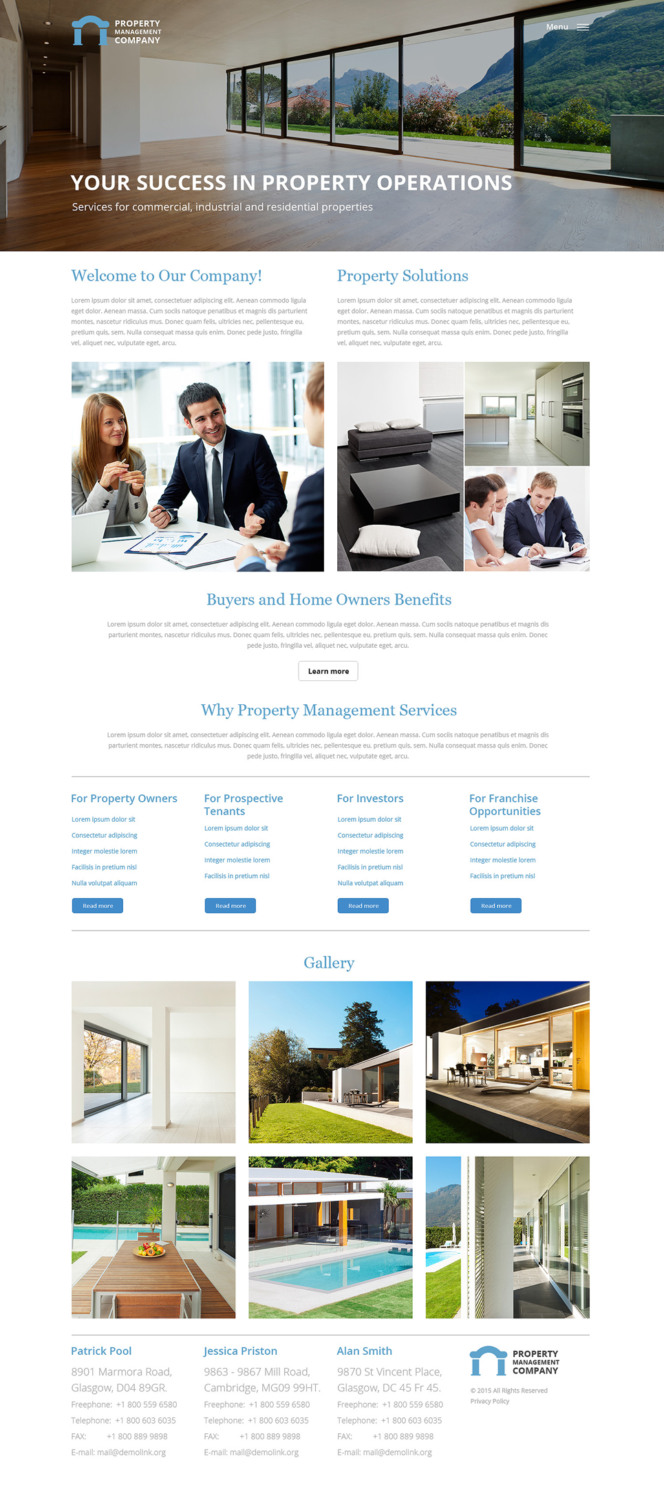 Property Management Responsive Website Template  57932
