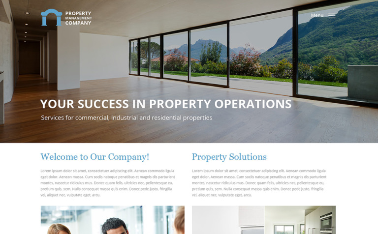 Property Management Responsive Website Template #57932