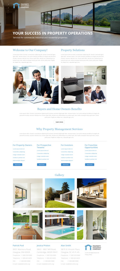 website template 58447 holiday homes apartments custom website