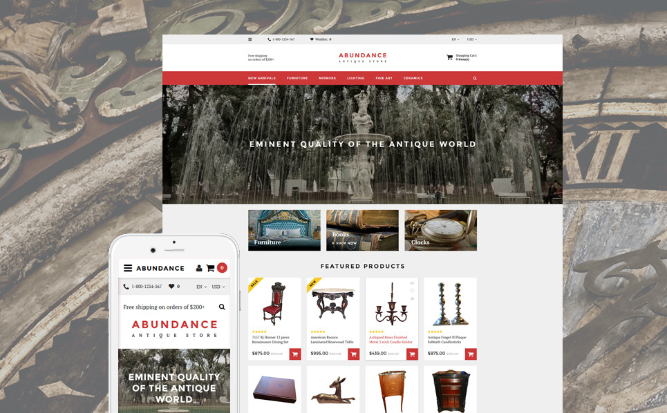 Responsive OpenCart Template over Antiekwinkel  New Screenshots BIG