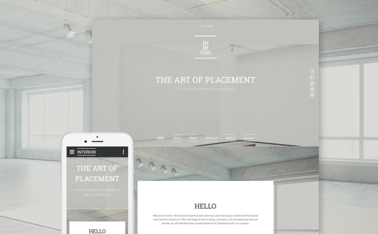 responsive website template over interieur en meubels new screenshots big