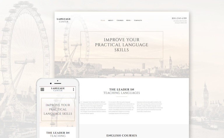 Website Vorlage #57962 für Sprachschule