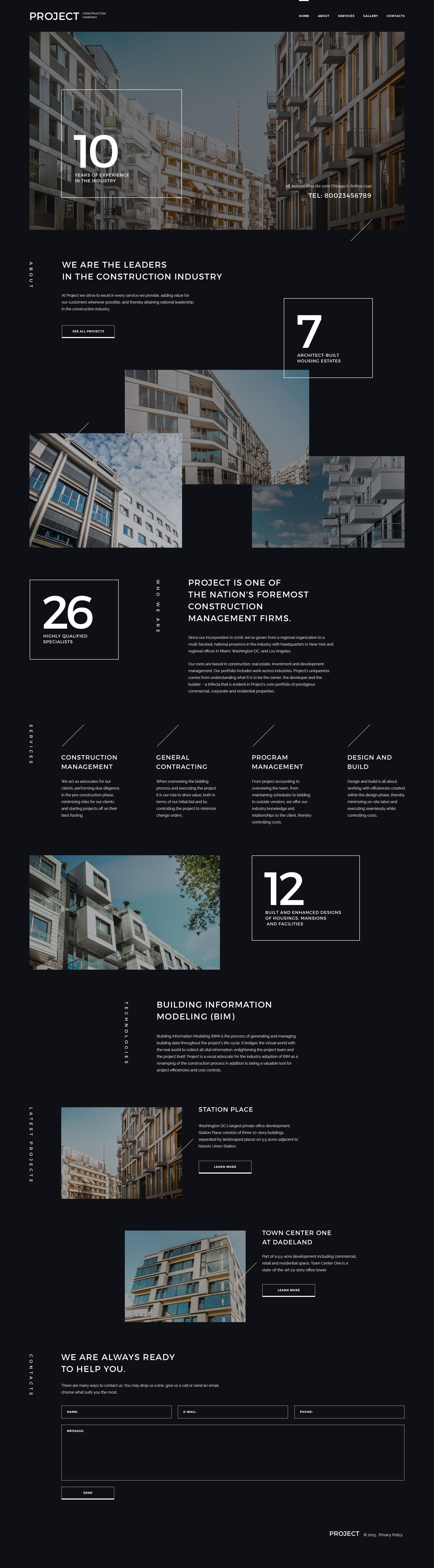 Responsivt Project Construction Company Hemsidemall #57947