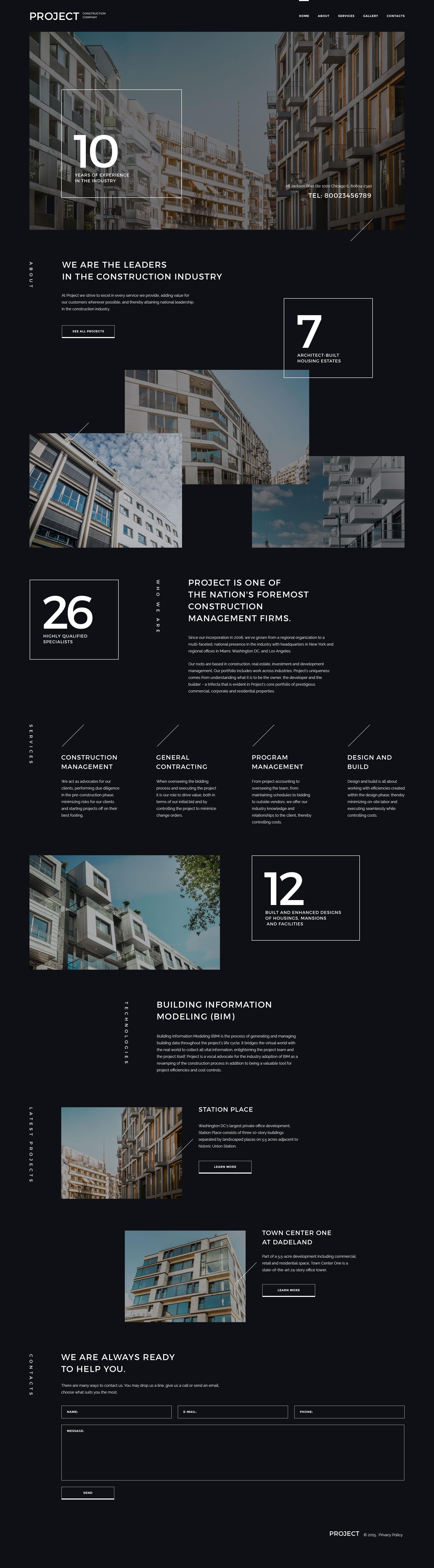 Responsywny szablon strony www Project Construction Company #57947 - zrzut ekranu
