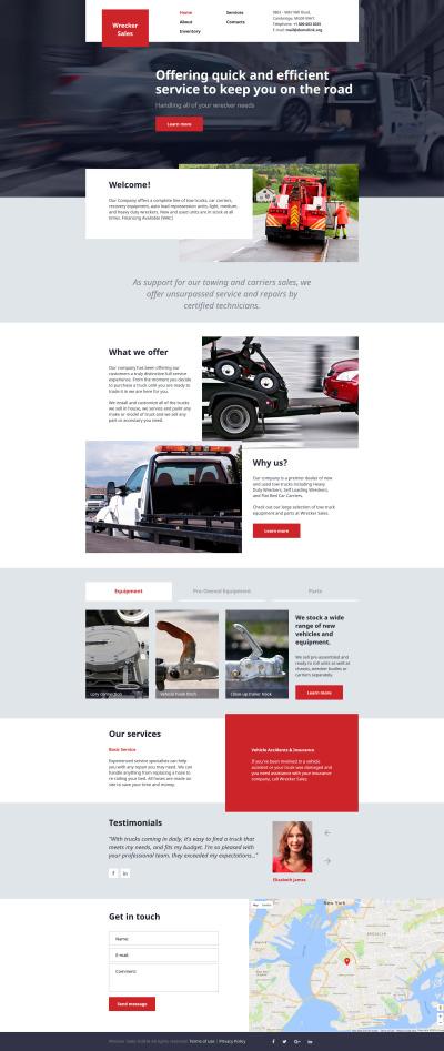 Trucking Responsive Šablona Webových Stránek