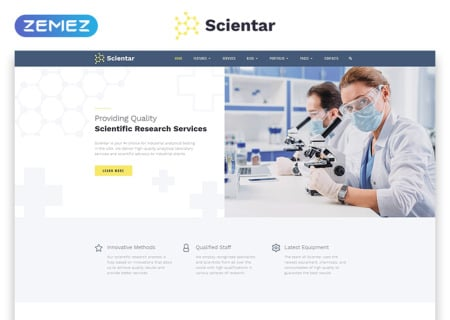 science lab  template