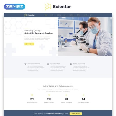 Science Lab Templates | TemplateMonster