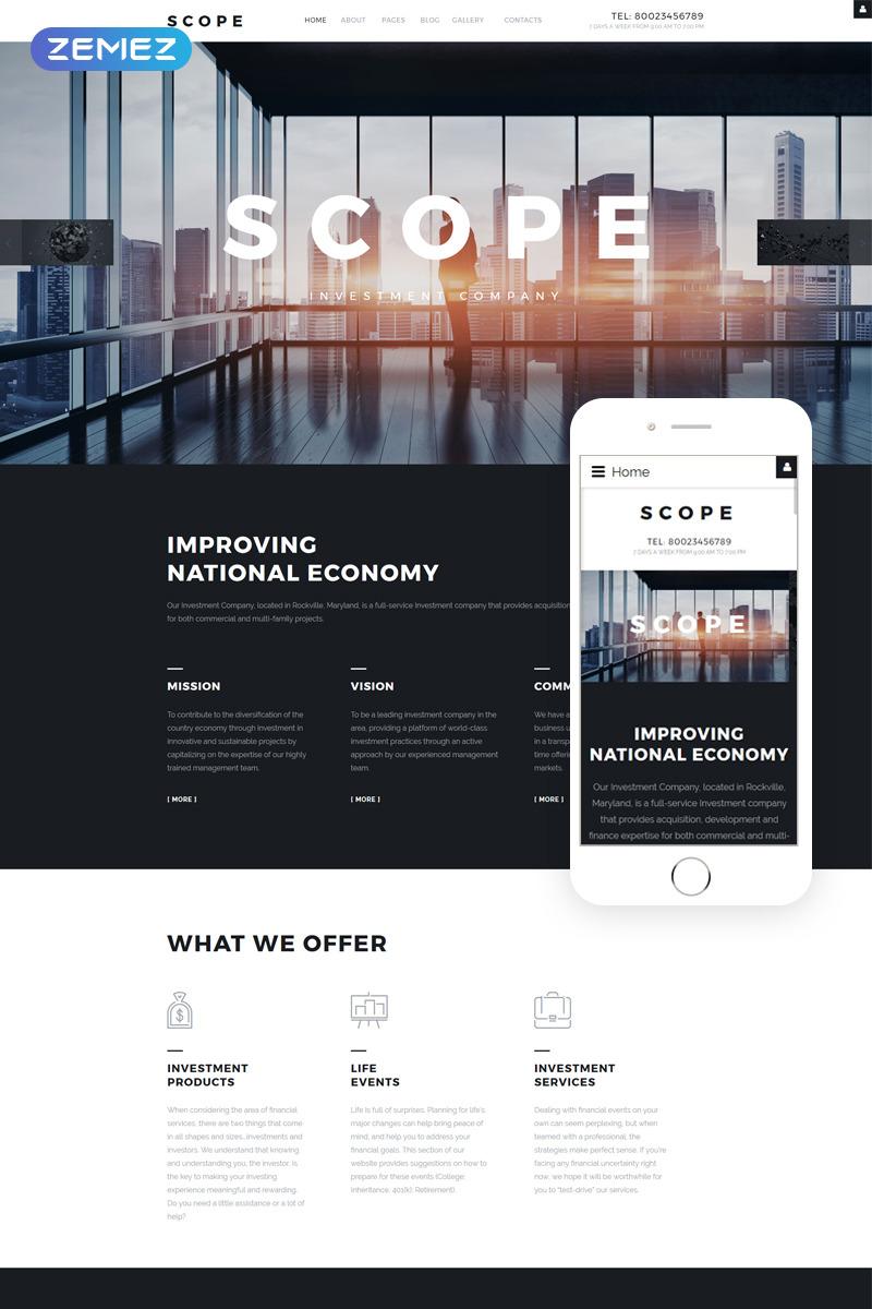 Scope - Investment Company Responsive Joomla Template New Screenshots BIG