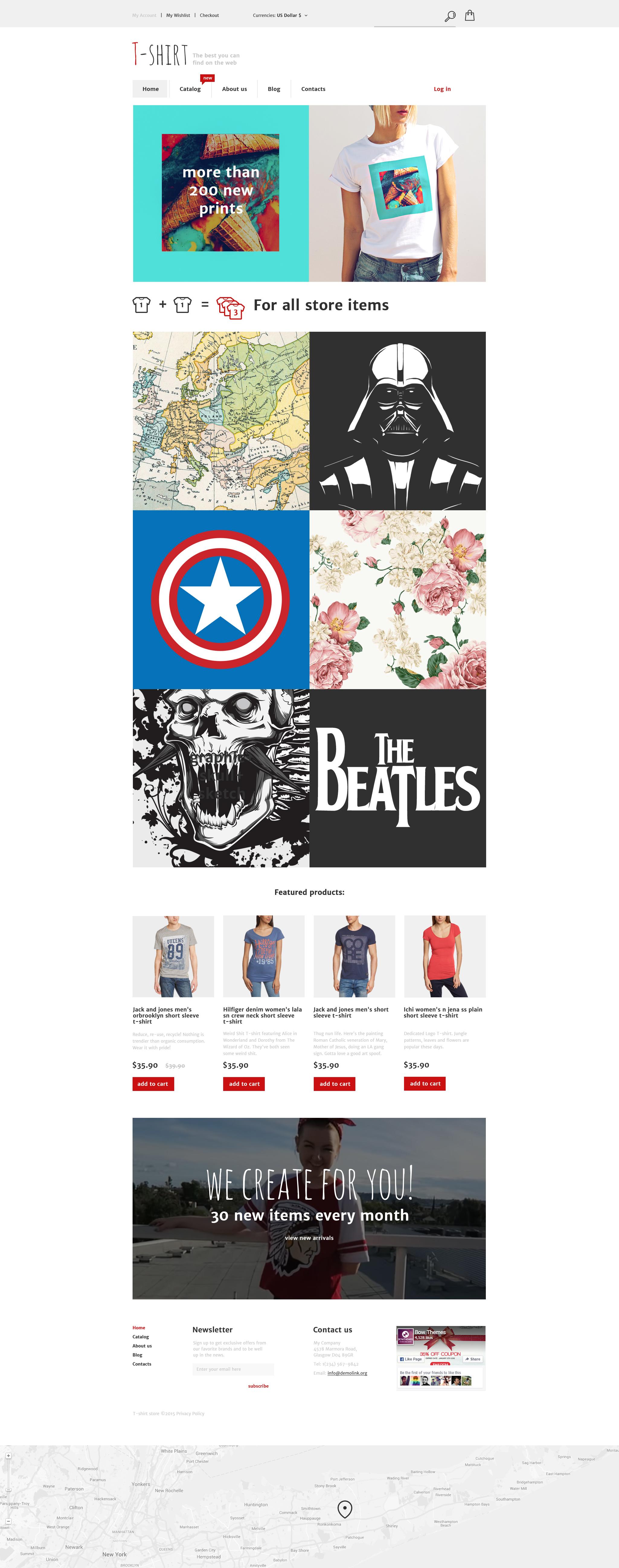 """T- Shirt"" VirtueMart模板 #57996 - 截图"