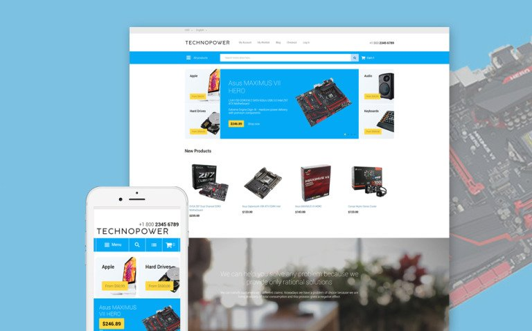 Techno Power Magento Theme New Screenshots BIG