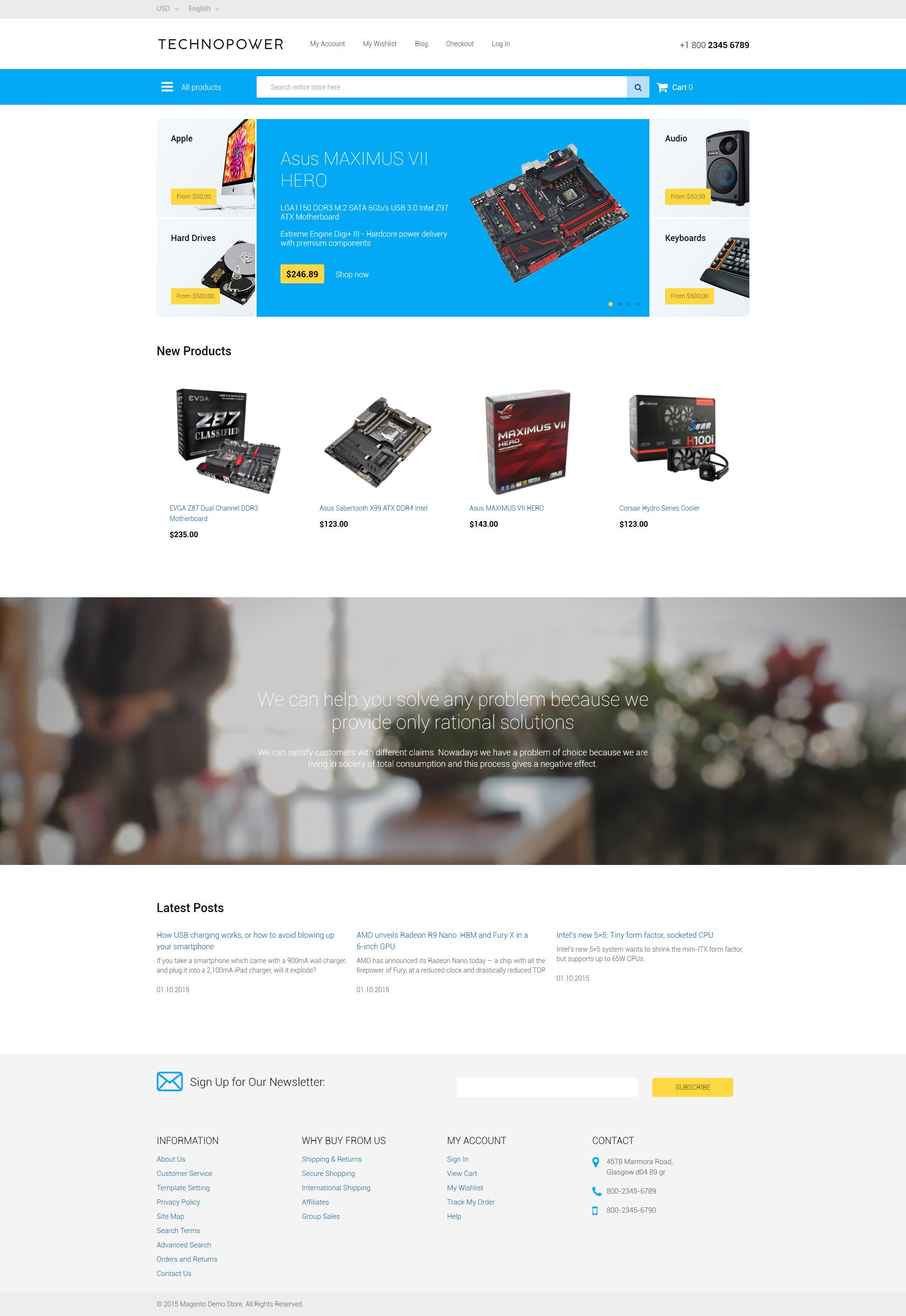 Techno Power Magento Theme