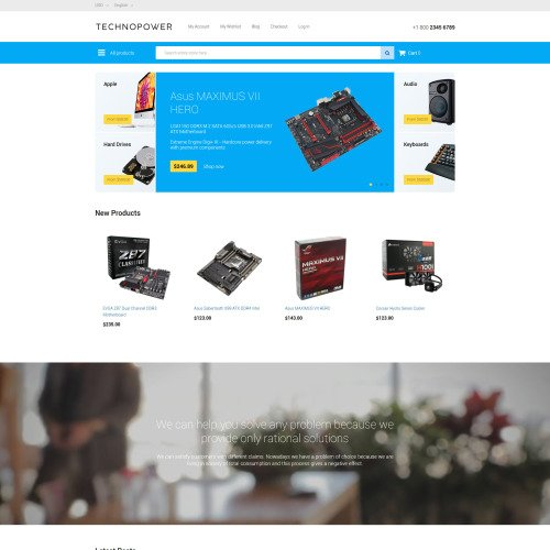 Techno Power - Magento Template based on Bootstrap