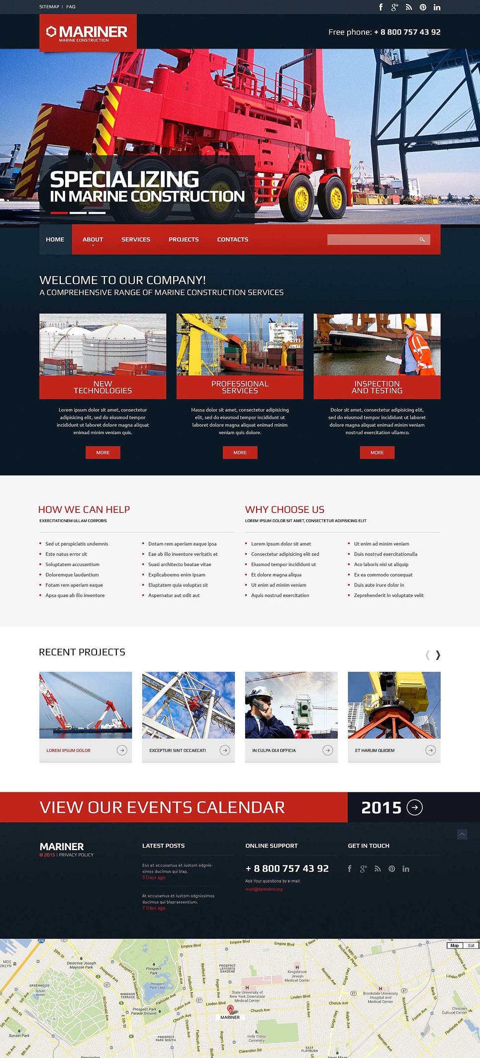 Tema siti web per un sito di societ di costruzioni for Siti web di costruzione domestica