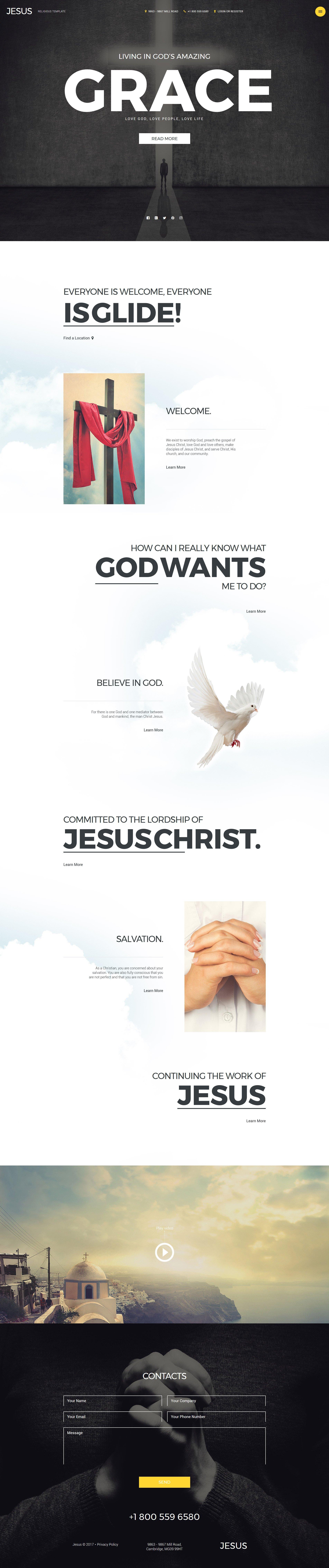 Template Joomla Flexível para Sites de Cristão №57982