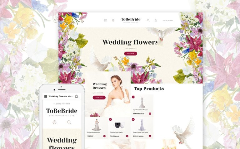 ToBeBride OpenCart Template New Screenshots BIG