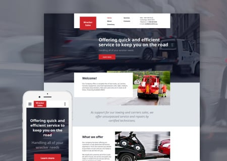 Trucking site template