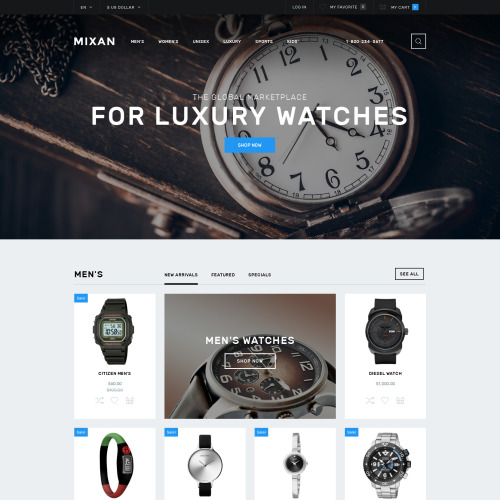 Mixan - OpenCart Template based on Bootstrap
