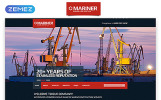 "Website Vorlage namens ""Mariner - Construction Company Clean Responsive HTML"""