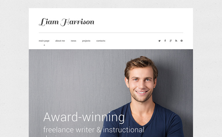 Writer/Author Responsive Website Template