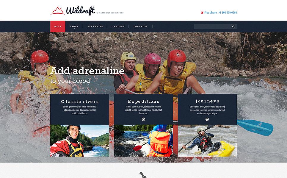 Responzivní Šablona webových stránek na téma Rafting, Plavba raftem New Screenshots BIG