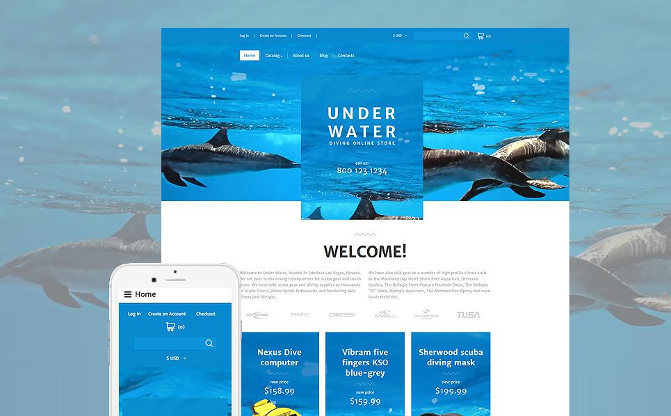 Responsive VirtueMart Vorlage für Tauchen  New Screenshots BIG