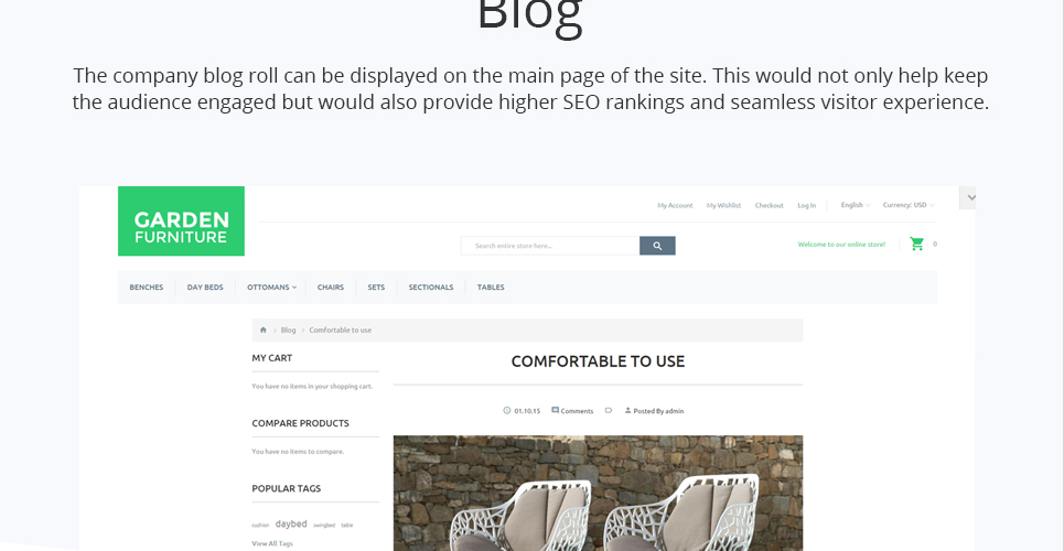 Garden Furniture PrestaShop Theme Is Intended To Become A Rock Solid  Foundation Of Your Furniture, Design Or Other Creative ECommerce Project.