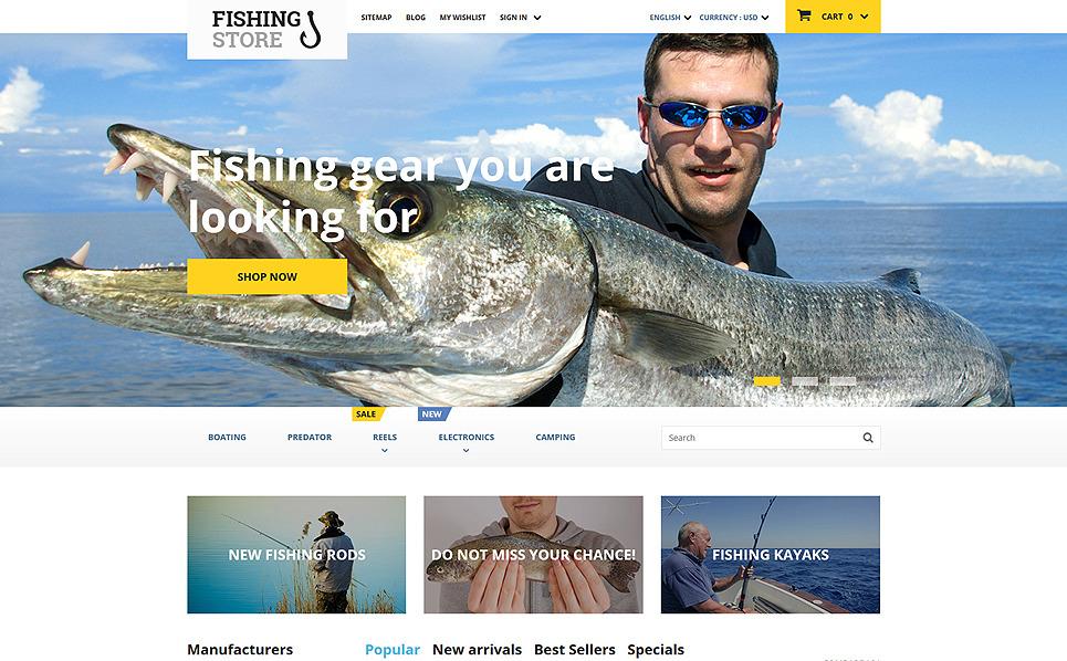 Reszponzív Halászat PrestaShop sablon New Screenshots BIG