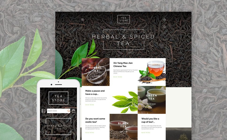 Responsywny szablon Shopify #58028 na temat: sklep z herbatą New Screenshots BIG