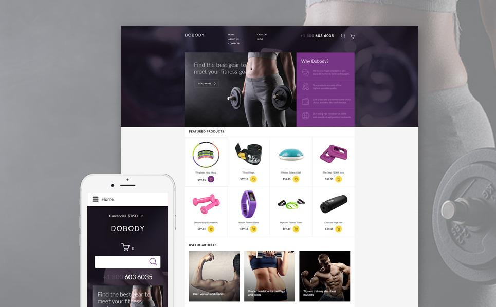 Responsive VirtueMart Template over Fitness New Screenshots BIG