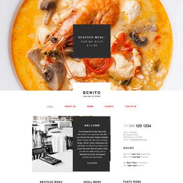 Купить Muse шаблон сайта итальянского ресторана - Benito. Купить шаблон #58045 и создать сайт.