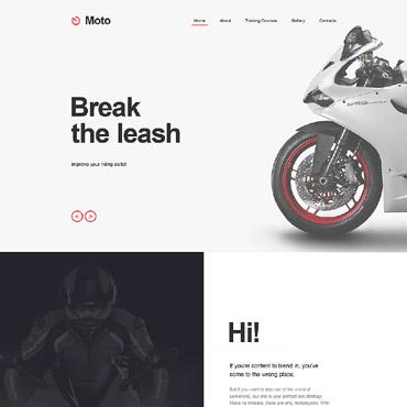 Купить Muse шаблон сайта мотошколы. Купить шаблон #58046 и создать сайт.